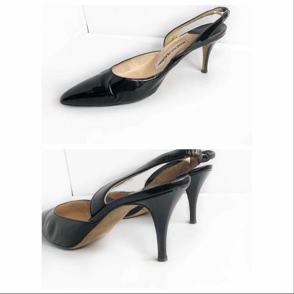 48bd43dc4 Manolo Blahnik Patent Leather Slingback Size 38.5. Manolo Blahnik.  M 5c3e31de03087c787ca4ecb2. M 5c3d5095a31c3312446113b2.  M 5c3d5094aa57194a9d1bd9b7